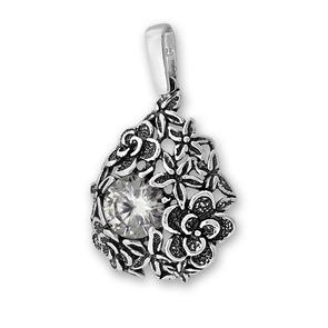 Висулки от сребро с камък - 191028