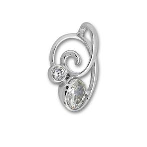 Висулки от сребро с камък - 182536