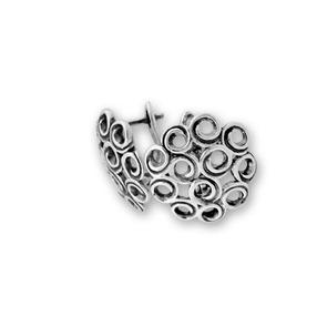 Сребърни обеци без камъни - 132051