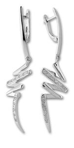 Oбици с камъни от сребро - 137495