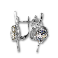 Oбици с камъни от сребро - 121489