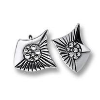 Сребърни обеци без камъни - 131853