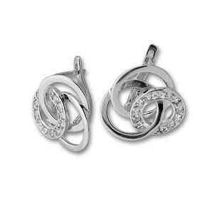 Oбици с камъни от сребро - 137927