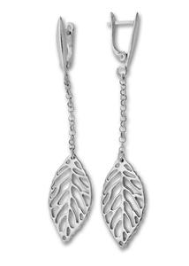 Сребърни обеци без камъни - 132537