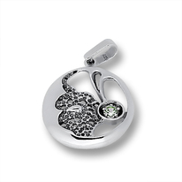 Висулки от сребро с камък - 193860