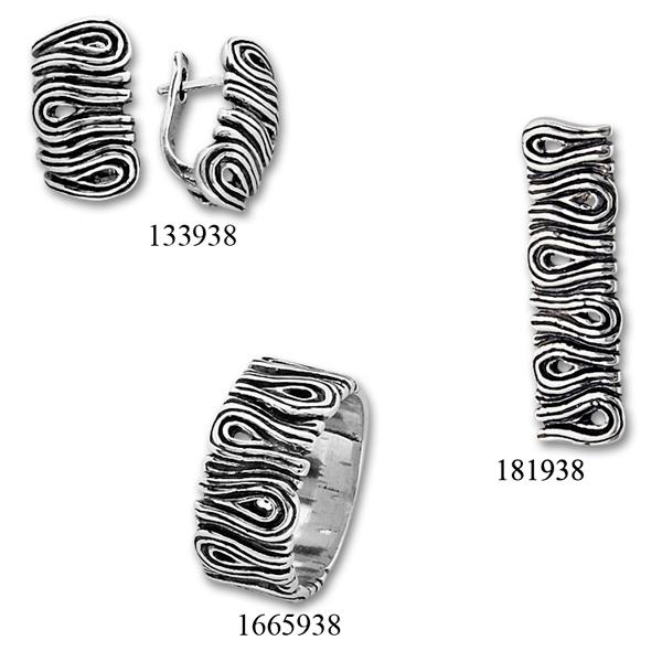 Сребърни бижута - комплект 8000938