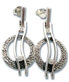 Oбици с камъни от сребро - 122844