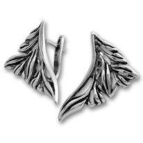 Сребърни обеци без камъни - 133905