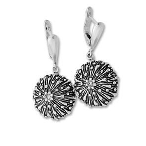 Oбици с камъни от сребро - 130995