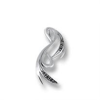Висулки от сребро с камък - 174444