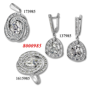 Сребърни бижута - комплект 8000985