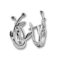 Oбици с камъни от сребро - 138900