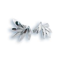 Сребърни обеци без камъни - 133973