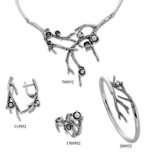 Сребърни бижута - комплект 8000952