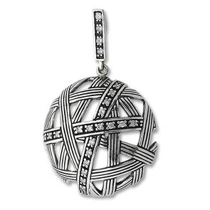 Висулки от сребро с камък - 176988