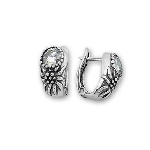 Oбици с камъни от сребро - 122041