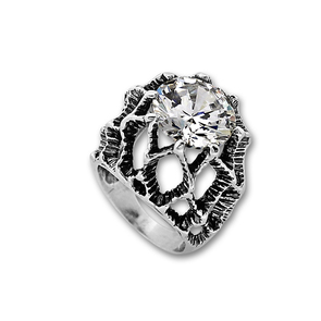 Пръстени с камък от сребро - 1585968
