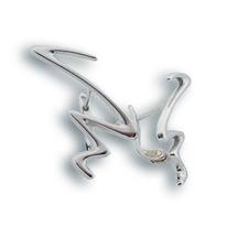 Сребърни обеци без камъни - 133202