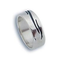 Сребърен пръстен без камък 1665745