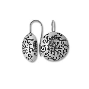 Сребърни обеци без камъни 136993