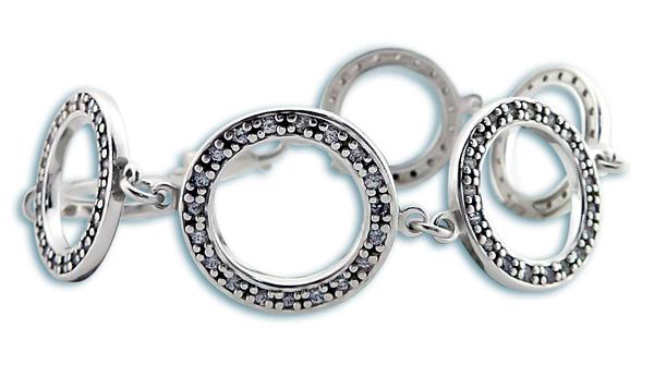 Сребърна гривна 200165