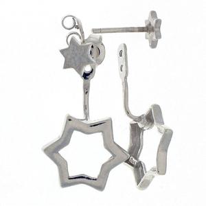 Сребърни обеци без камъни - 132661