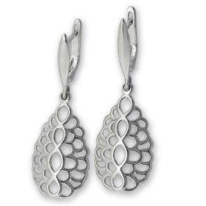 Сребърни обеци без камъни 133027