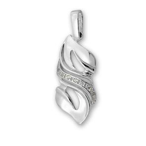 Висулки от сребро с камък - 174061