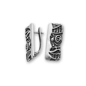 Сребърни обеци без камъни - 132006