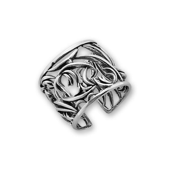 Сребърен пръстен без камък 1536008