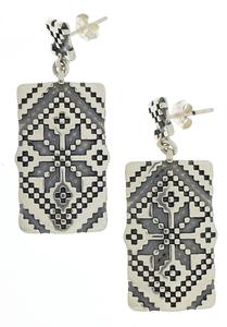 Сребърни обеци без камъни - 131103