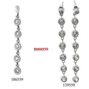 Сребърни бижута - комплекти - 8000559