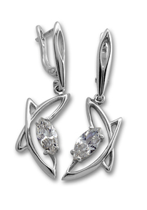 Oбици с камъни от сребро - 122895