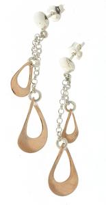 Сребърни обеци без камъни - 133195.1