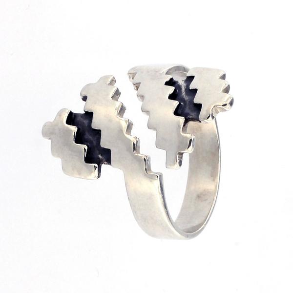 Сребърен пръстен без камък 1545304