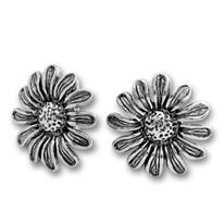 Сребърни обеци без камъни - 132903