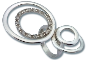 Пръстени с камък от сребро - 1615206