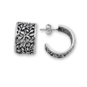 Сребърни обеци без камъни - 131030