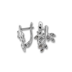 Oбици с камъни от сребро - 139957