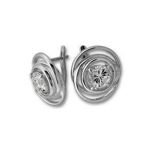 Oбици с камъни от сребро - 130916
