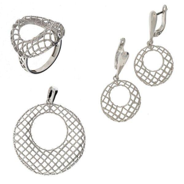 Сребърни бижута - комплект 8000079