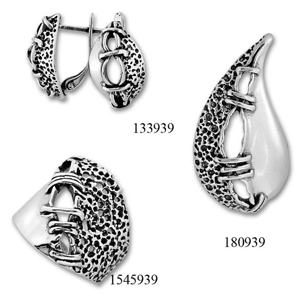 Сребърни бижута - комплект 8000939