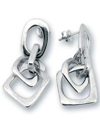 Сребърни обеци без камъни 131112