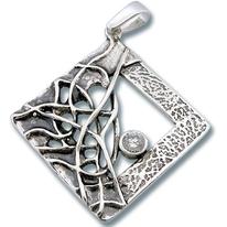 Висулки от сребро с камък - 193831
