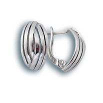 Сребърни обици без камъни - 132195