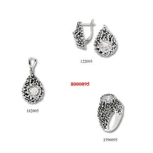 Сребърни бижута - комплект 8000095