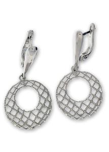 Сребърни обеци без камъни - 128079