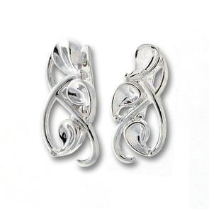 Сребърни обеци без камъни - 132192