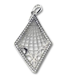 Висулки от сребро с камък - 188088