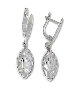Сребърни обеци без камъни - 128081